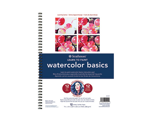 Strathmore 25-151 200 Learning Series Watercolor Basics Pad